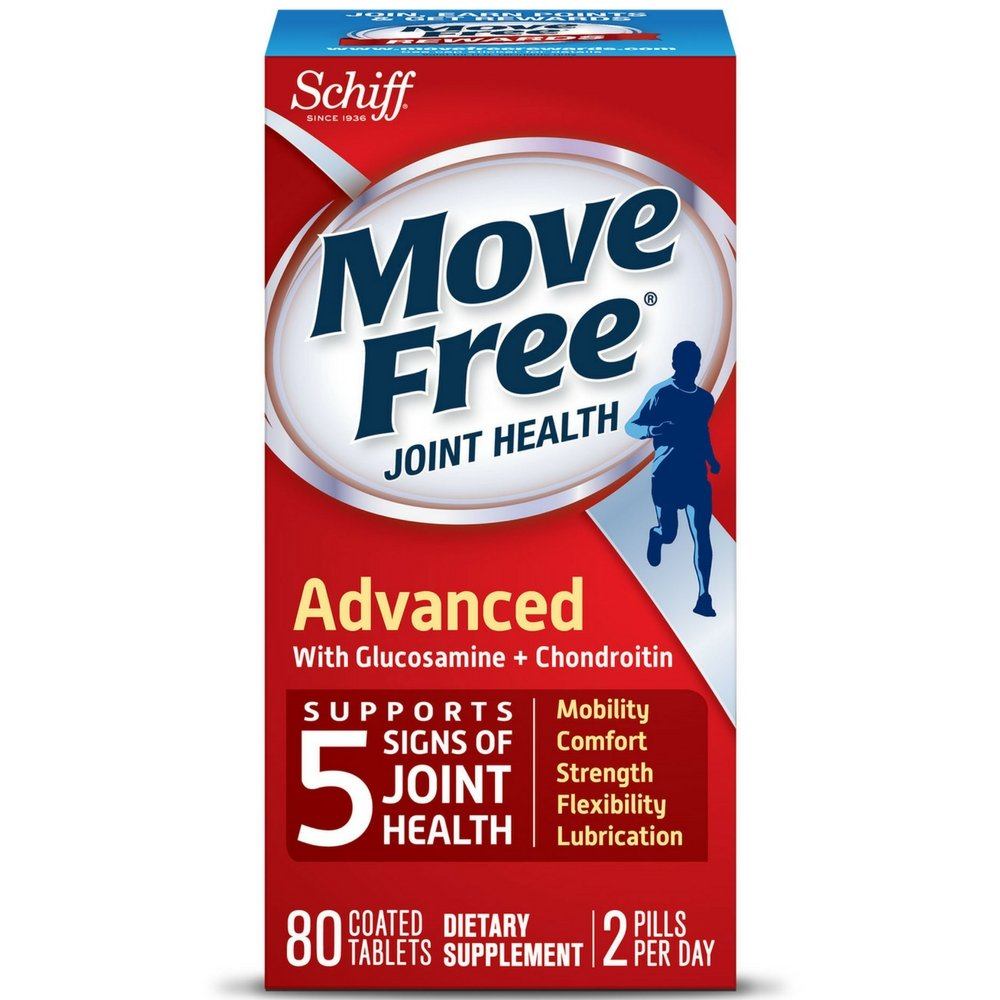 Move Free Triple Strength Glucosamine Chondroitin and Hyaluronic Acid Joint Supplement, 80 ct (Pack of 10)