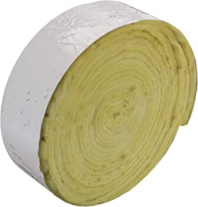 """Home Intuition 25 foot Foiled Fiberglass Pipe Insulation Wrap, 3"""" Wide x 1"""" Thick"""