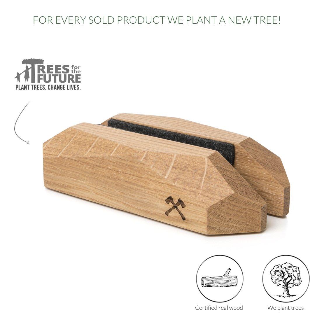 Design Supporto Compatibile con MacBook 11-15 di Legno Naturale EcoRest Quercia Woodcessories
