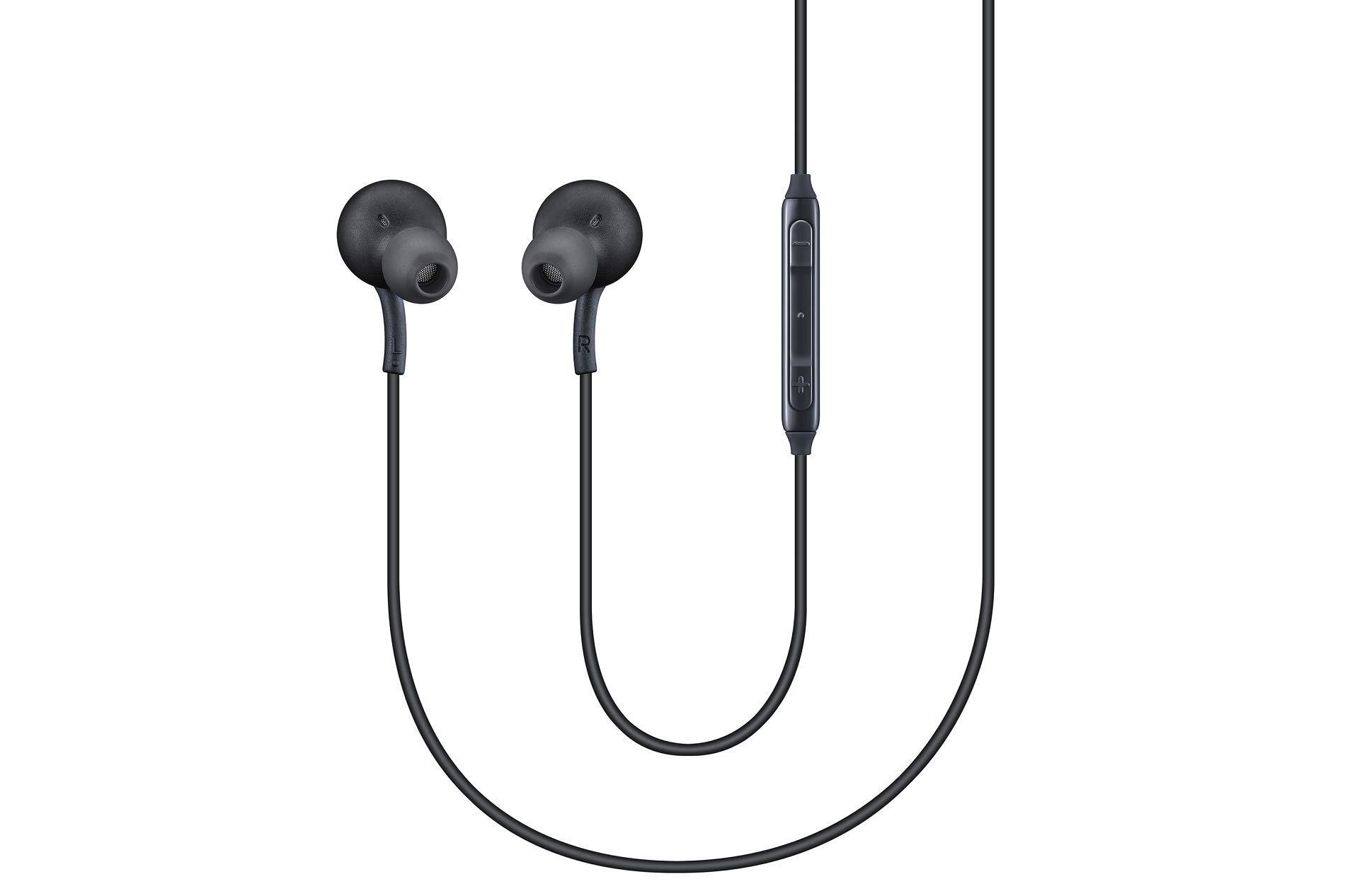 AKG Headphones, Headphones, Headset for Samsung Galaxy S8 and S8 Plus, Black [eo-ig955]