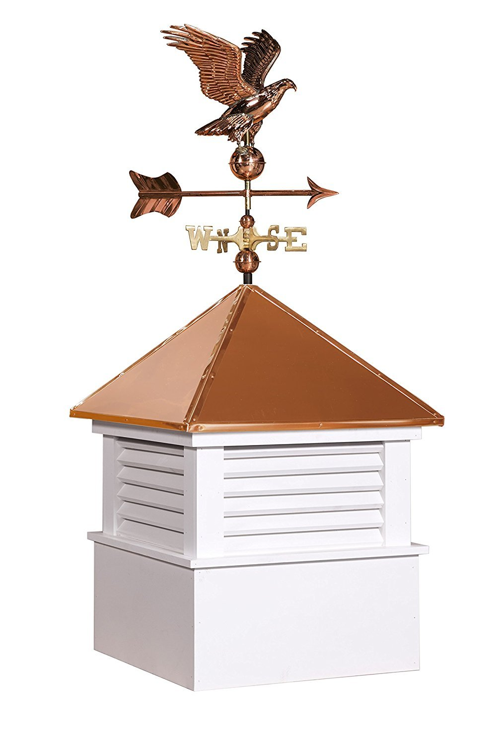 East Coast Weathervanes and Cupolas Vinyl Douglas Cupola With Eagle Weathervane (vinyl, 25 in square x 56 in tall)