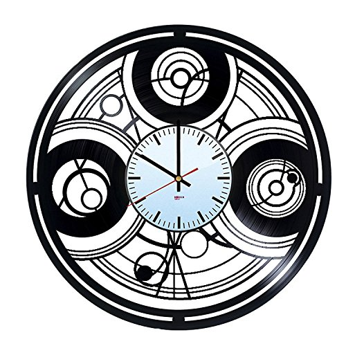 Science-Fiction HANDMADE Vinyl Record Wall Clock - Get unique home room home decor - Gift ideas for men, teens - Unique Adventure Film Art Design - Leave us a feedback and win your custom clock