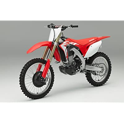 Orange Cycle Parts Die-Cast Replica Toy Red 1:12 Scale Model Honda CRF 450R Dirt Bike by NewRay 57873: Automotive