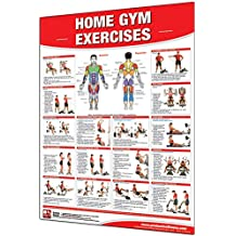 """Productive Fitness Laminated Fitness Poster - Home Gym Exercises - 24"""" x 36"""" Wall Chart for Multi-Gym with Selectorized Weight Stack"""