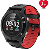 Smart watch,Sports Watch with Altimeter/ Barometer/Thermometer and Built-in GPS , Fitness Tracker for Running,Hiking and Climbing ,IP67 Waterproof Heart Rate Monitor for Men, Women and Adventurer.