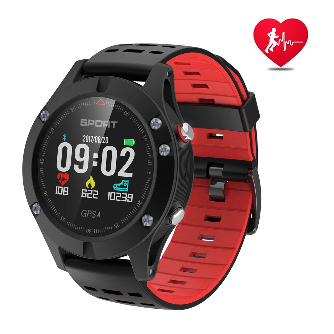 Smart watch,Sports Watch with Altimeter/Barometer/Thermometer and Built-in GPS, Fitness Tracker for Running,Hiking and Climbing,IP67 Waterproof Heart Rate Monitor for Men, Women and Adventurer by DTNO.I