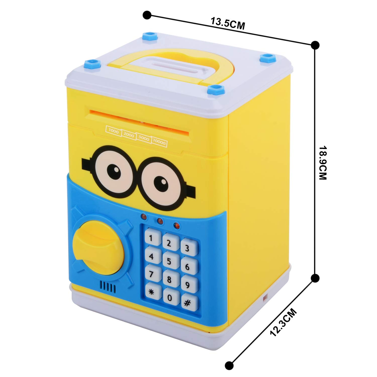 Cartoon Piggy Bank for Children Kids Password Electronic Money Bank, Mini ATM Electronic Coin Bank Coin Box, Great Christmas Gift for Children by CreaTion (Image #4)