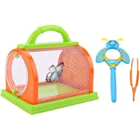 Ceepko Insect Box for Kids, Insect Critter Cage Nature Bound Toys Large Size Indoor Outdoor Bug Catcher And Habitat Kit with Magnifier&Tweezer