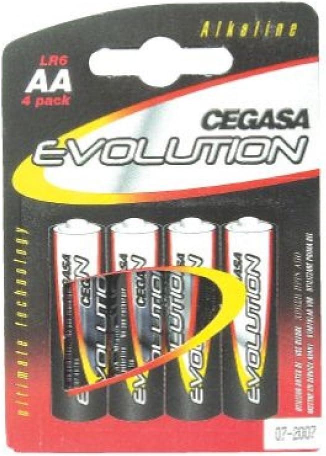 CEGASA Evolution - Pack 4 Pilas LR6, Color Verde: Amazon.es ...