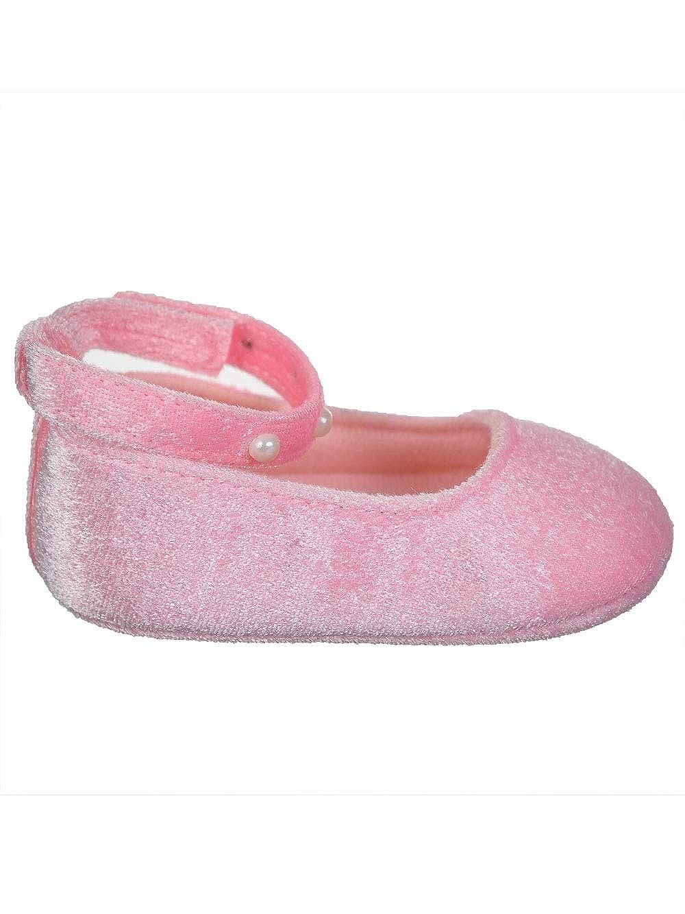 Stepping Stones Baby Girls Velvet Mary Jane Booties
