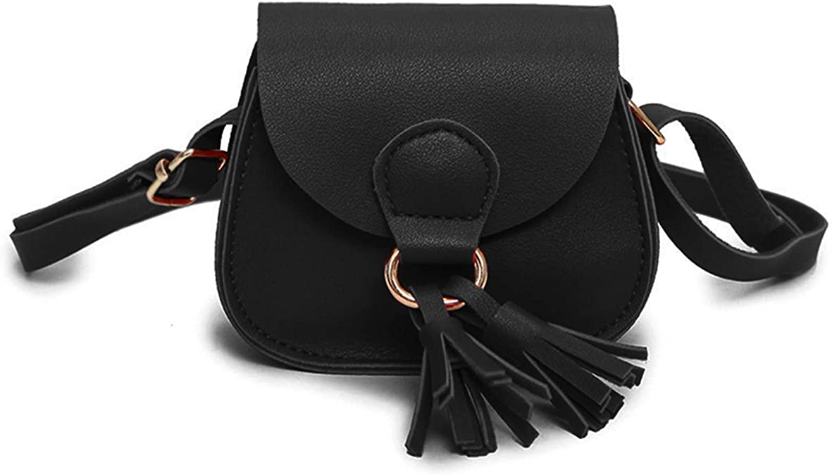 Lovely Children Girls PU Leather Tassel Small Shoulder Messenger Bag Purse FJ