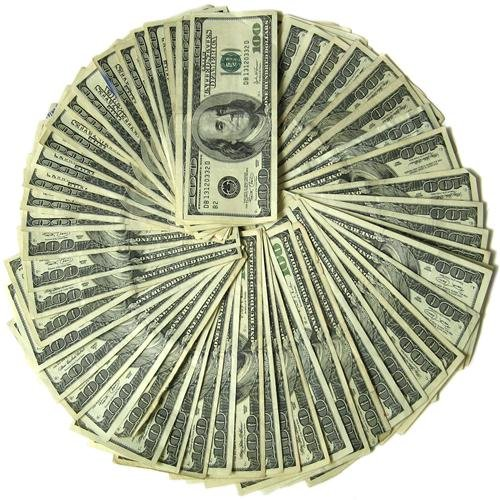 Hundred Dollar Bills Glossy Poster Picture Photo 100 frankllin money cash