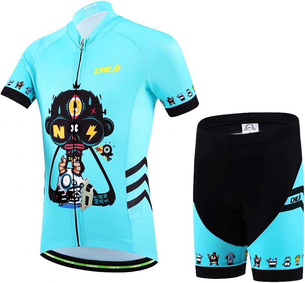 Ateid Maillot de Ciclismo y Pantalones Cortos para Ni/ños