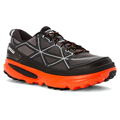 HOKA ONE ONE Mens Mafate 4 Running Sneaker Shoe, Grey/Flame, US 7