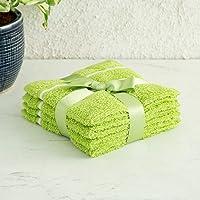 Home Centre Colour Connect Face Towels - Set of 4 Pcs - Green