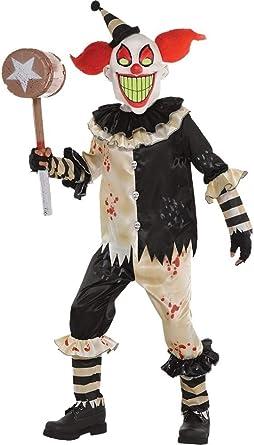 Unisex Halloween  Fancy Dress Adults Clown Fun Costume Circus Carnival Killer IT