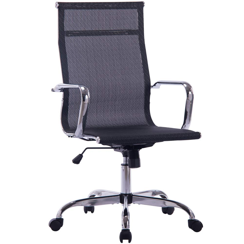 Sidanli Conference Table Chairs, High Back Mesh Office Chair-Black by Sidanli