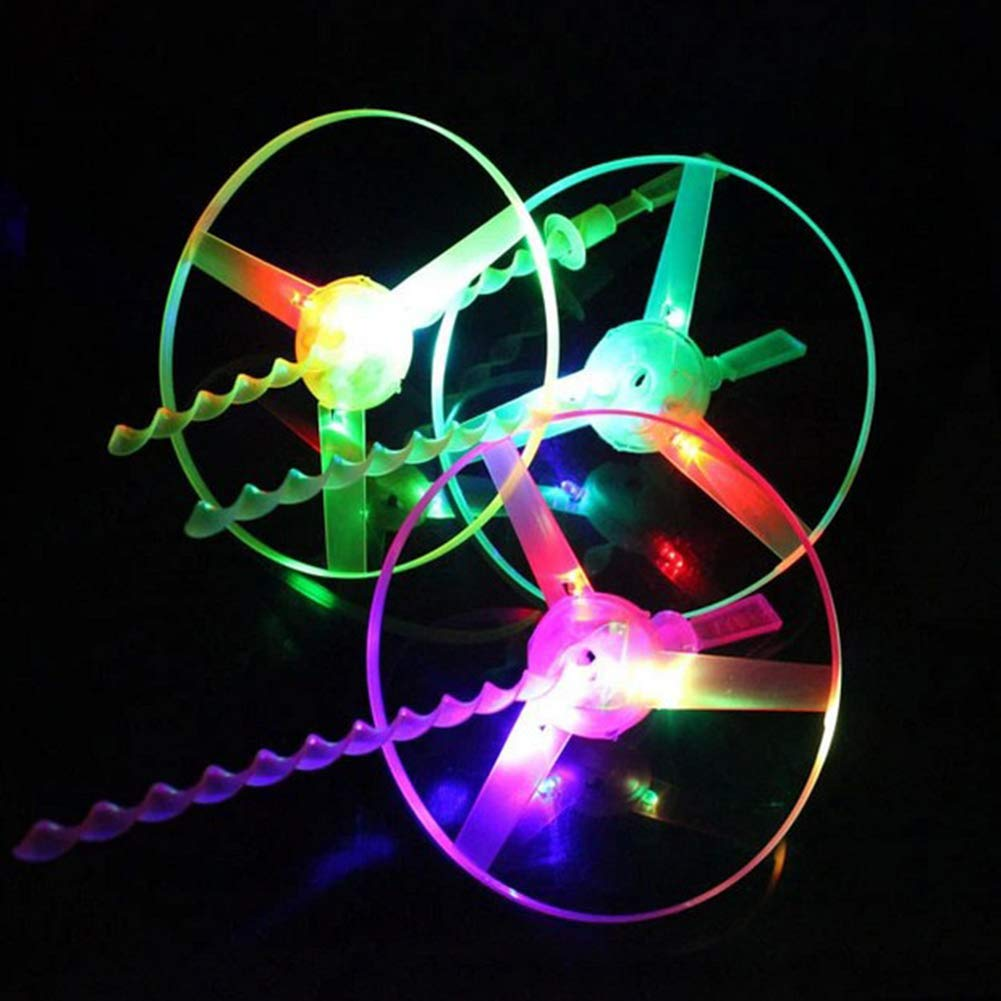 Hand Push Kids Toy Random Color YSHtanj Toys For All Ages Funny Spinning Dragonfly Hand Push Light Flying Saucer Kids Toy for Outdoor Play with LED Light