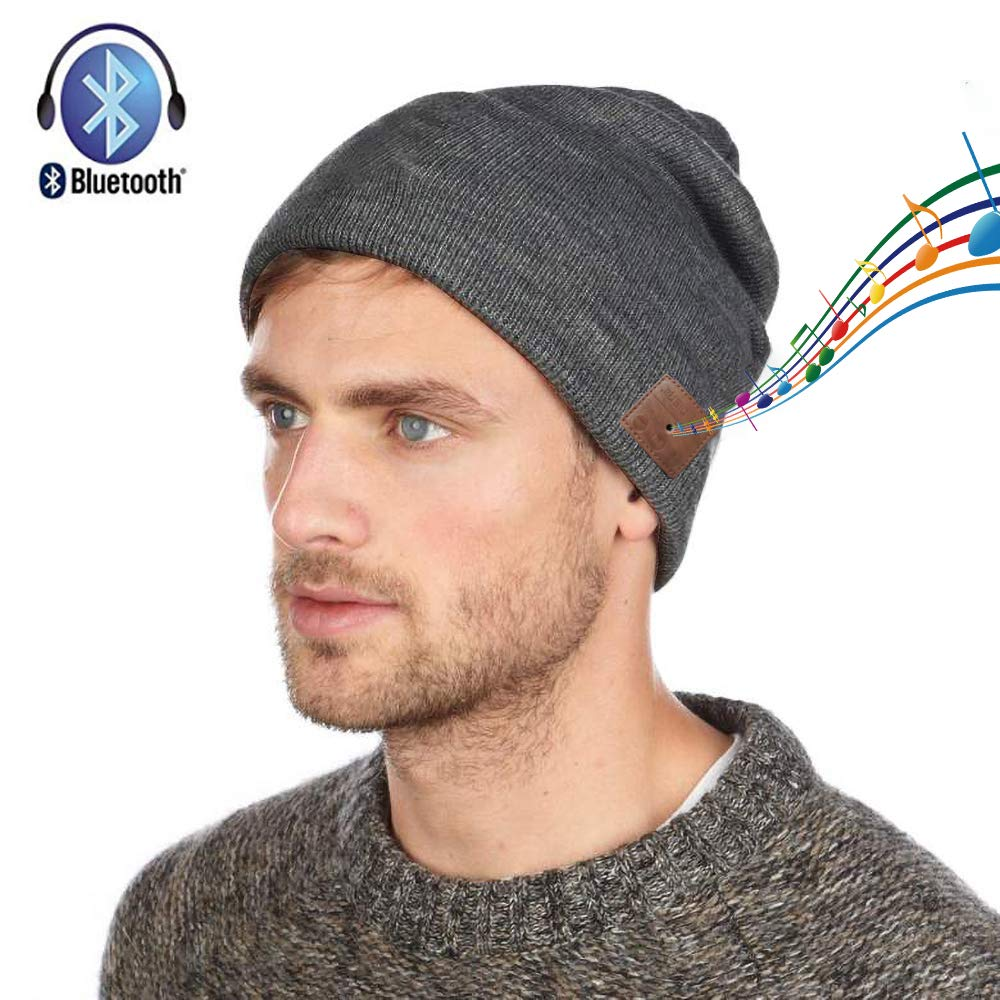 DIOSN Bluetooth Beanie Hat Wireless Speaker Headset Headphones Earphones Mic Music Cap for Running Outdoor Sports Skiing Camping Hiking Cycling - Music Listening, Phone Call Answering, Bluetooth 4.2