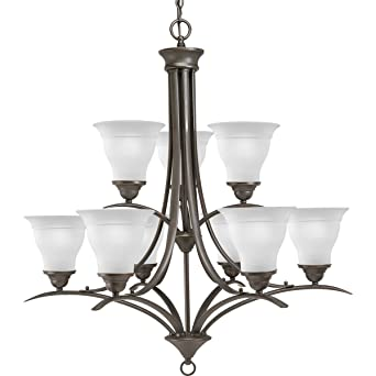 Progress Lighting P4329 20 9 Light Trinity Chandelier Antique