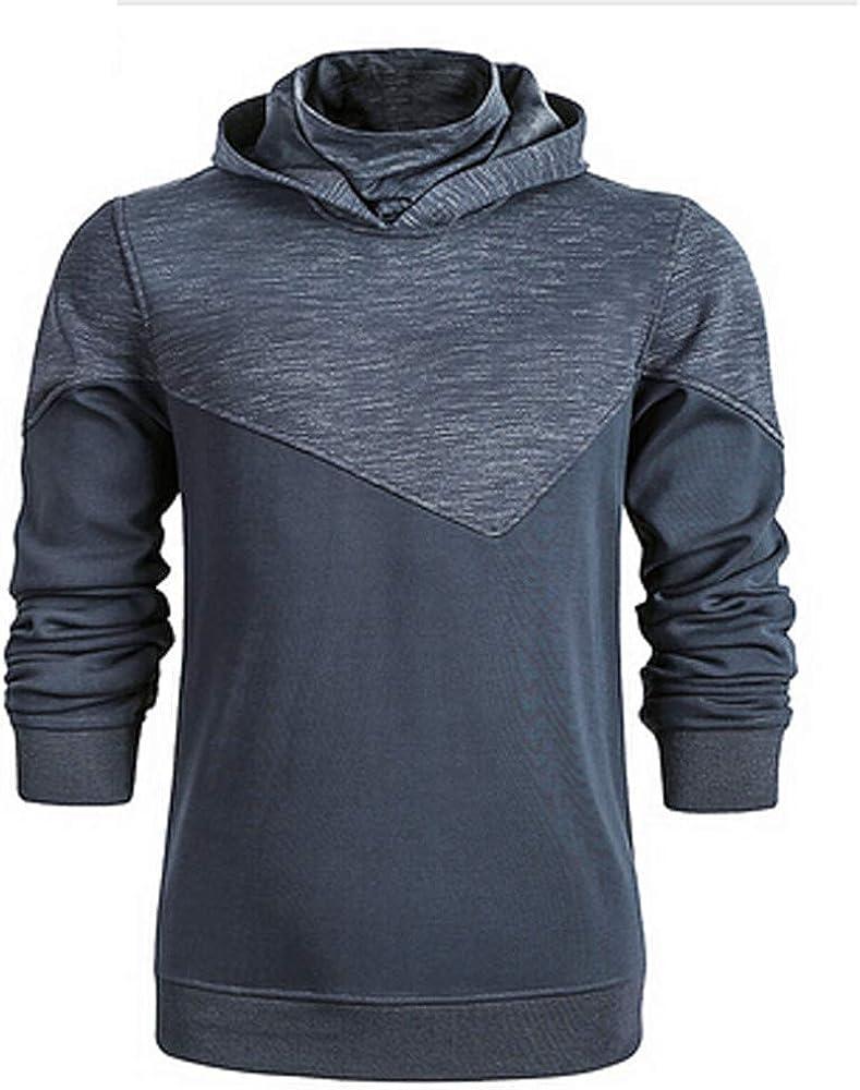 YUTAO Mens Fleece Oblique Pullover Ninja Hoodie Sweatshirt Essentials Activewear