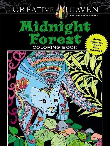 creative-haven-midnight-forest-coloring-book-animal-designs-on-a-dramatic-black-background-adult-coloring