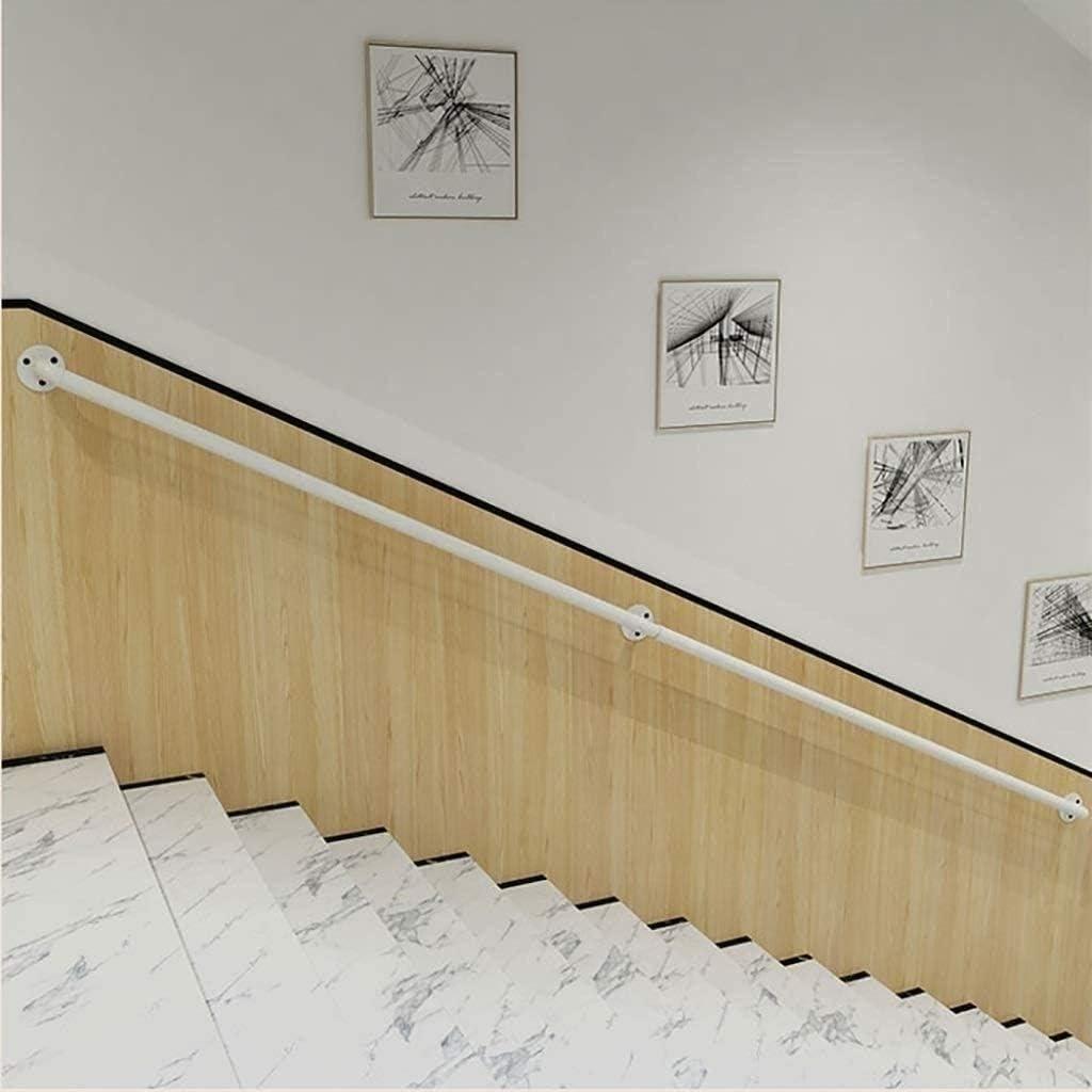 Ferro battuto Anti-Slip Safety Wall Scale Ringhiera disabili Bambini Anziani Esterno Asta di Supporto XFSHKJS Bianco Ringhiera Laterale corrimano Staffa Size : 1ft//30cm