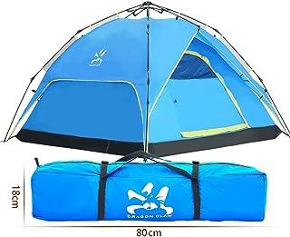 TLMY Extérieur 2-3-4 Personnes Multi-Personnes Automatique Double Vitesse Terrain Ouvert Pluie Double Usage Camouflage Tente Double Couche des tentes (Couleur : B)
