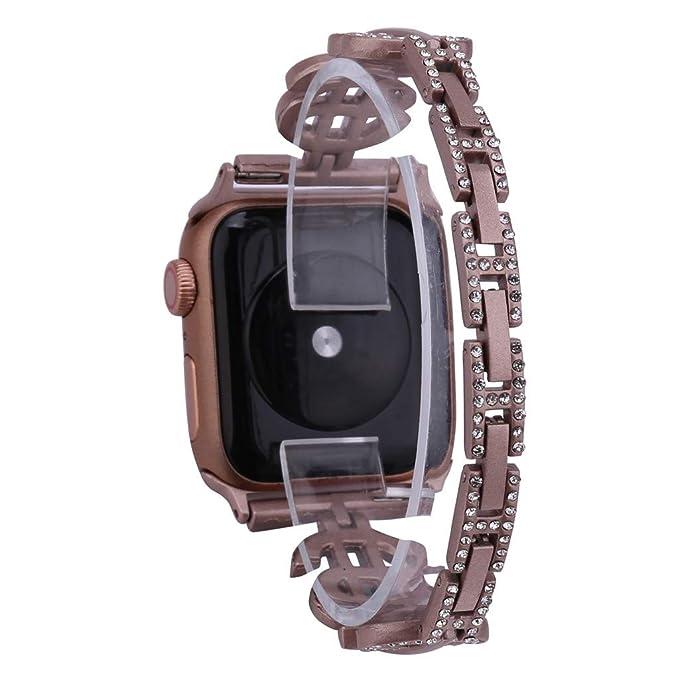 Amazon.com : XBKPLO Compatible for Apple Watch Band 42mm 44mm, Series 4 Diamond Jewelry Replacement Watch Strap Women Series 3/2/1 Cuff Bracelet : Pet ...