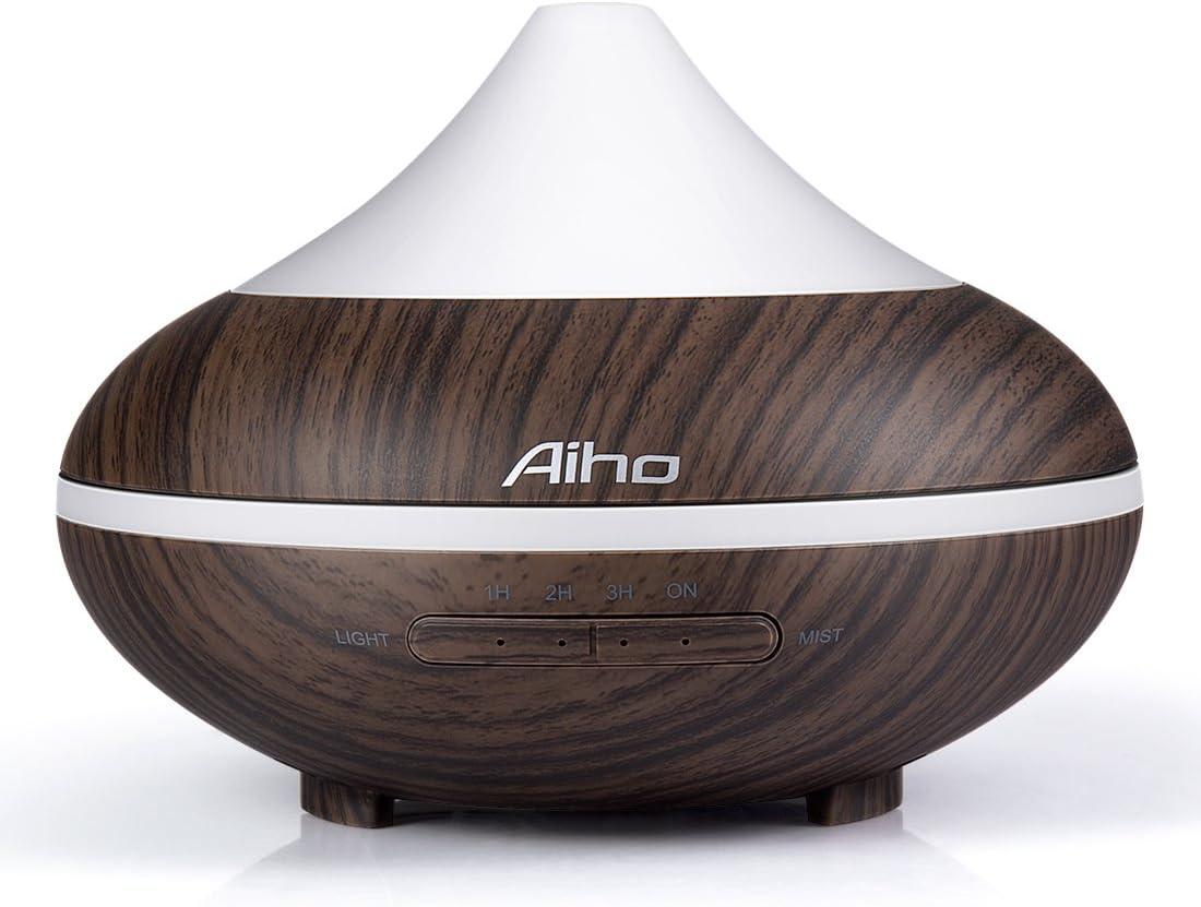 Aroma Essential Oil Diffuser 200ml Wood Grain Ultrasonic