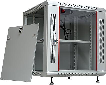 Amazon Com 9u 24 Deep Best Wall Mount Rack Network Server Data Glass Door Cabinet Home Audio Theater