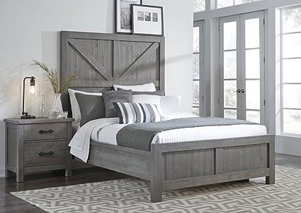 Amazon.com: Modus Furniture 9X13F4 Austin Panel Bed Rustic Grey ...