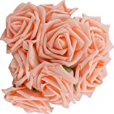 10pcs Classic White Purple Pink Lvory Beige Rose Flowers for Wedding Bridesmaid Bridal Bouquet (Champagne)