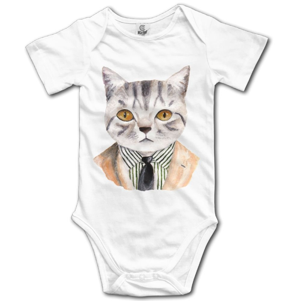 Rainbowhug Concise Gentle Cat Unisex Baby Onesie Cute Newborn Clothes Unique Baby Outfits Comfortable Baby Clothes