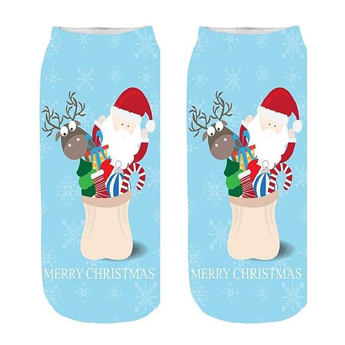 ... moda de invierno regalo de Navidad muñeco de nieve divertido Funky novedad loco lindo increíble impresión suave algodón tobillo calcetines A: Amazon.es: ...