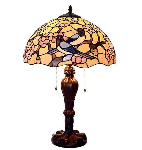 WFTD Lámpara De Mesa Tiffany Estilo Hecho A Mano 16 Pulgadas ...