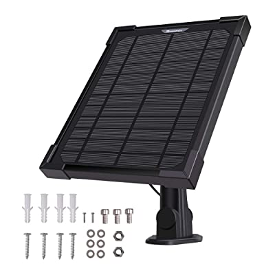 Renogy 5 Watt Solar Panel Charger Outdoor Security Cameras Compatible with Ring Spotlight Cam Battery : Garden & Outdoor