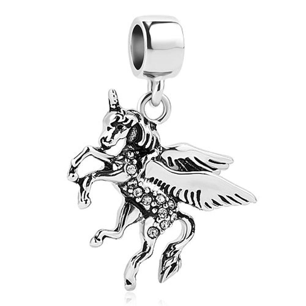 Charmed Craft Dangle Unicorn Charm Beads for Charms Bracelets pandöra charms CCA_DPC_MY834_X04
