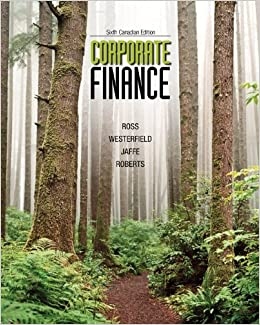 corporate finance 6th canadian edition by ross westerfield jaffe and roberts