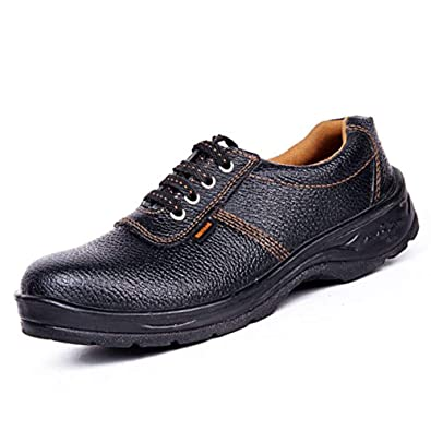 458c9d33d29094 Hillson Barrier Safety Shoes Size 10 (Black) Pack of 5  Amazon.in  Shoes    Handbags