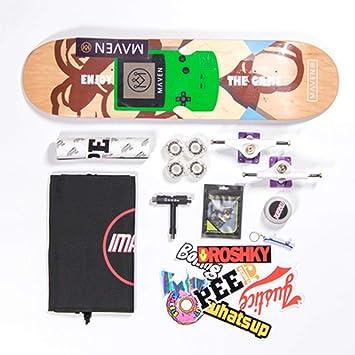 Skateboard para Principiantes Bilateral Slanting Board Street Skills Skateboard de Cuatro Ruedas para Adultos (Color : Nintendo): Amazon.es: Hogar