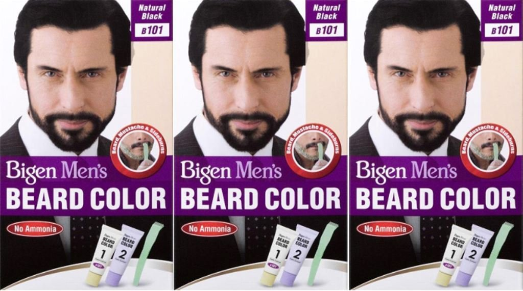Bigen Men's Beard Colour B101 Natural Black X 3 Packs by Bigen