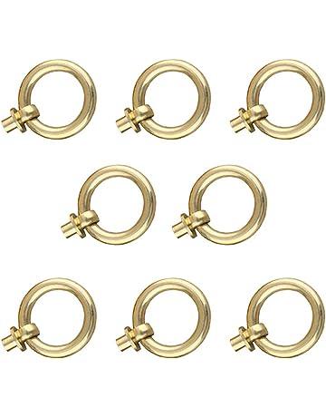sourcing map 20uds Tirador peque/ño de anilla para decorativos joyero cofre