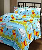 Shopbite Microfiber Winnie The Pooh Cartoon Print Single Bed Reversible AC Blanket/Dohar for Kids, Multicolour