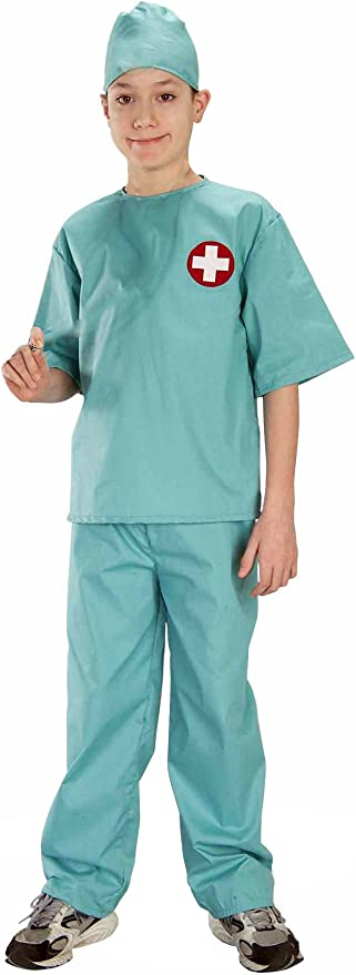 Forum Novelties Doctor Surgical Scrubs Child's Costume, Medium