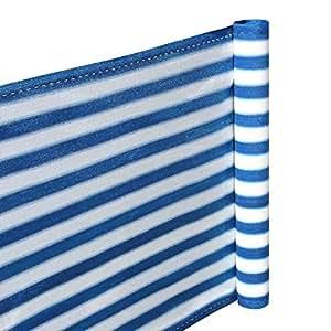 Visual para balcones 0,90x 5metros azul blanco
