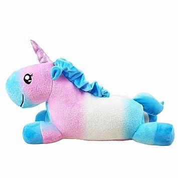 Colorfulworld Franela Unicornio Almohadas Suaves Juguetes de Peluche para bebé diversión de los niños (Vistoso