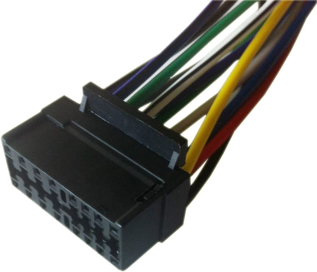 KD-G230 Players New 16 Pin AUTO STEREO WIRE HARNESS PLUG for JVC KD-G140