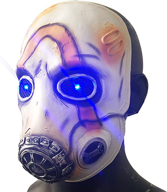 Game Borderlands 3 Psycho Latex Mask Led Light Eyes Scary Halloween Cosplay