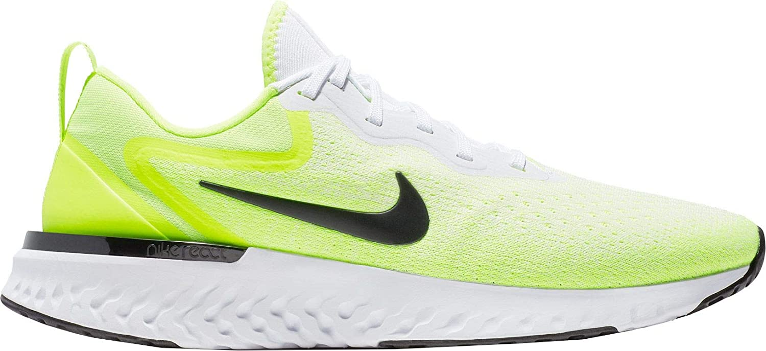 b7d91d5320ab Amazon.com  NIKE Men s Odyssey React Running Shoes (White Green ...